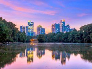 Atlanta desde Lago Meer